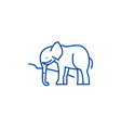 indian elephant line icon concept indian elephant vector image