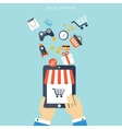 Internet shopping concept E-commerce Online vector image