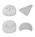 isolated object of dumplings and stuffed symbol vector image vector image