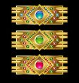 jewel icon bars vector image vector image