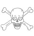 Jolly Roger skull and crossbones vector image