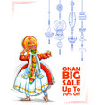 kathakali dancer on advertisement and promotion vector image