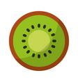 kiwi fresh fruit isolated icon vector image vector image