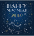 merry christmas and happy new year 2019 postcard vector image