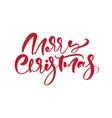merry christmas calligraphic handwritten vector image vector image