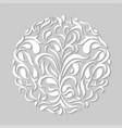 modern paper cut floral element vector image