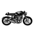 motorcycle or bike retro motor bicycle vector image vector image