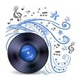 Music doodle vinyl vector image