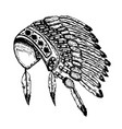 native american indians chief headdress isolated vector image vector image