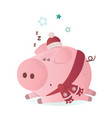 new year cute pig vector image vector image