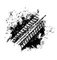 offroad sport grunge tire print tyre vector image vector image