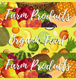 organic farm product posters set vector image vector image