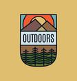 outdoor logo emblem template adventure label vector image vector image