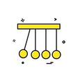 pendulum icon design vector image