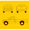 Pick-up truck line vector image vector image