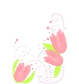 pink tulips vector image vector image