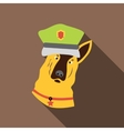 Police dog icon flat style vector image vector image