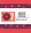 radio equipment to music festival celebration vector image vector image