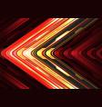 red yellow black arrow light cyber metallic vector image vector image