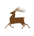 running deer icon or symbol reindeer animal vector image vector image