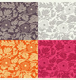 seamless floral pattern in 4 color variations vector image vector image