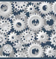 seamless gears 3d mechanical background vector image