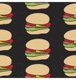 Seamless pattern of fast food cartoon burger vector image