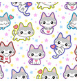 seamless picture with a kitten vector image vector image