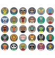 Set of animals faces circle icons set in Trendy vector image