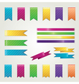Set of colorful ribbons vector image