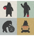 Set Sign Fun Bears vector image vector image