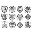 spare parts car repair service monochrome icons vector image vector image