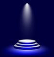 stage podium with illuminated lighting round vector image