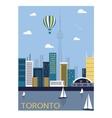 Toronto city Canada vector image vector image
