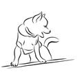 Toy dog sketch vector image