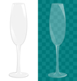 Transparent isolated sparkling wine glass vector image vector image
