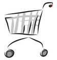 trolley hand drawn design on white background vector image
