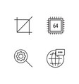 web simple outlined icons set vector image vector image
