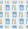 seamless pattern with floss and paste vector image