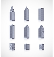 Set of buildings icons vector image