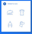 4 fur icons vector image vector image