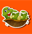 a simple turtle character vector image vector image