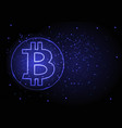 abstract background with a symbol of bitcoin vector image vector image