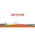 abstract header website simple colorful vector image vector image