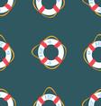 Ahoy Lifebuoy summertime Funny Seamless pat vector image