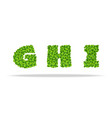 alfavit from the leaves of the clover letters ghi vector image vector image