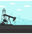 Background of oil derrick vector image