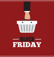 black friday concept with sale icons design vector image vector image