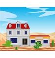 Borough in desert vector image vector image