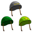 cartoon old retro soviet soldier helmets vector image